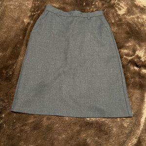 United Colors of Benetton 100 % wool black skirt